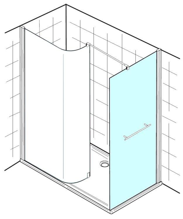hsk walk in premium 1 seitenwand sonderma 6206305 41 50 megabad. Black Bedroom Furniture Sets. Home Design Ideas