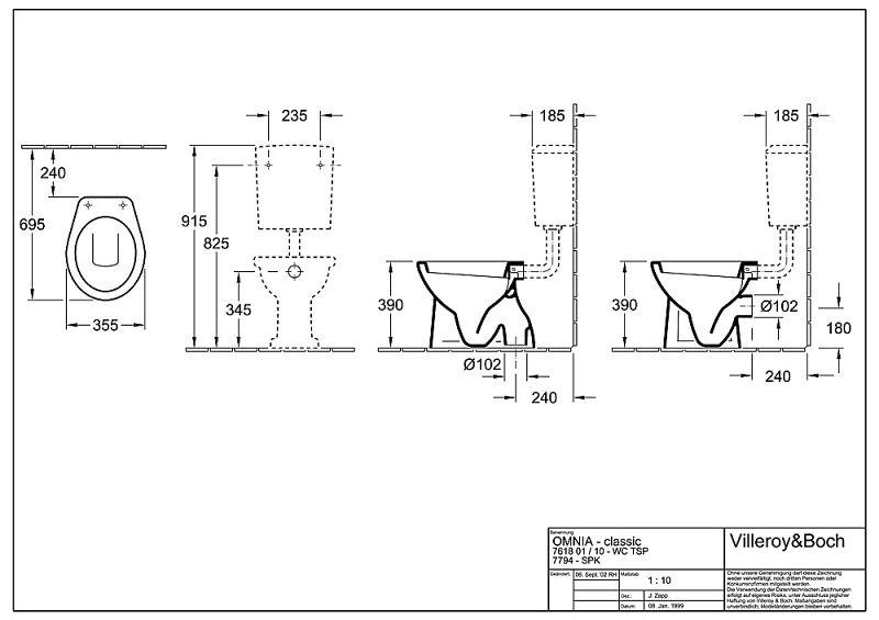 Innovativ Villeroy & Boch O.novo Stand,Tiefspülklosett 76181001 - MEGABAD IW42