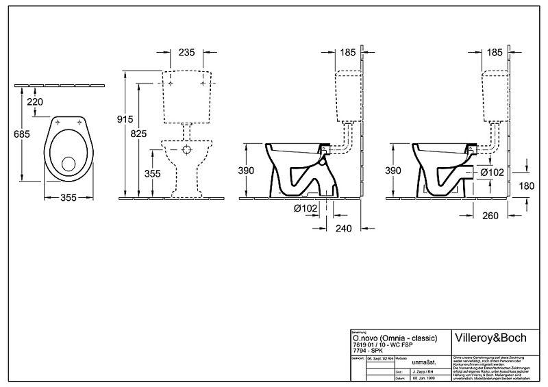 villeroy boch stand flachsp lklosett 76191001 megabad. Black Bedroom Furniture Sets. Home Design Ideas
