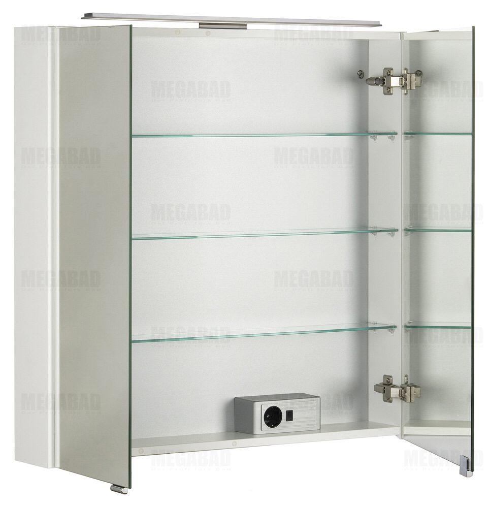 architekt 100 led spiegelschrank 80 cm megabad. Black Bedroom Furniture Sets. Home Design Ideas