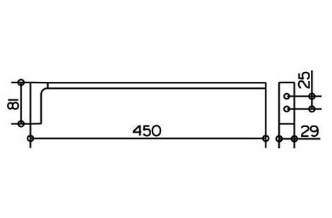 keuco edition 11 handtuchhalter 45 cm 11120010000 megabad. Black Bedroom Furniture Sets. Home Design Ideas
