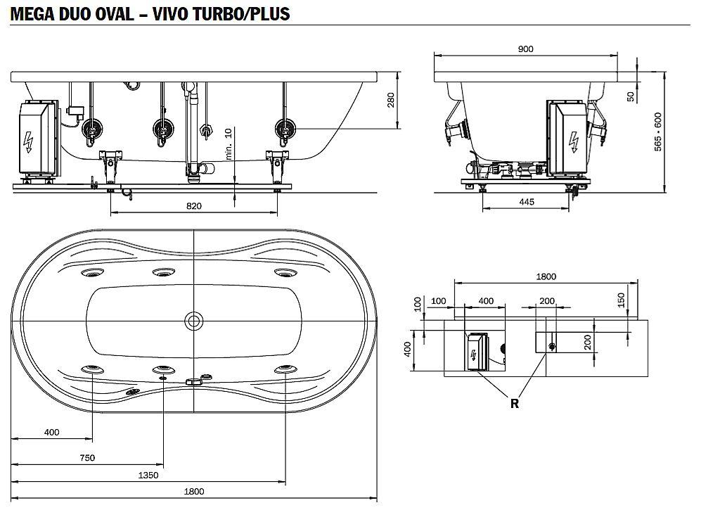 kaldewei mega duo oval whirlpool mit vivo turbo whirlsystem megabad. Black Bedroom Furniture Sets. Home Design Ideas