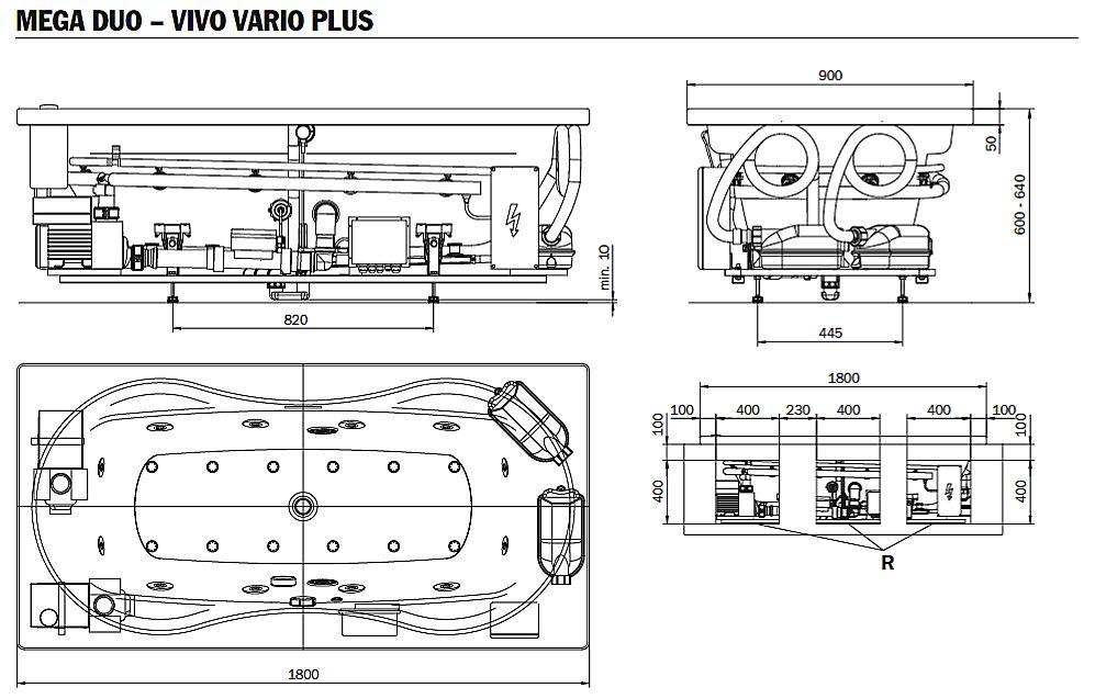 kaldewei megaduo whirlpool mit vivovario plus whirlsystem. Black Bedroom Furniture Sets. Home Design Ideas