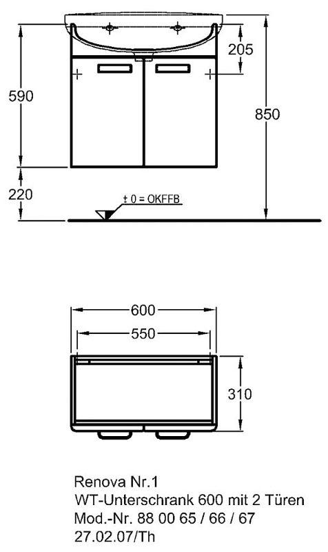 keramag renova nr 1 waschtischunterschrank 60 cm art 880065 megabad. Black Bedroom Furniture Sets. Home Design Ideas
