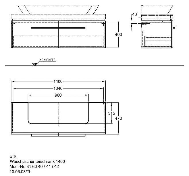 keramag silk waschtischunterschrank 140 cm y816040 megabad. Black Bedroom Furniture Sets. Home Design Ideas