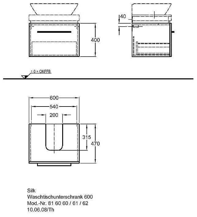 keramag silk waschtischunterschrank 60 cm y816060 megabad. Black Bedroom Furniture Sets. Home Design Ideas
