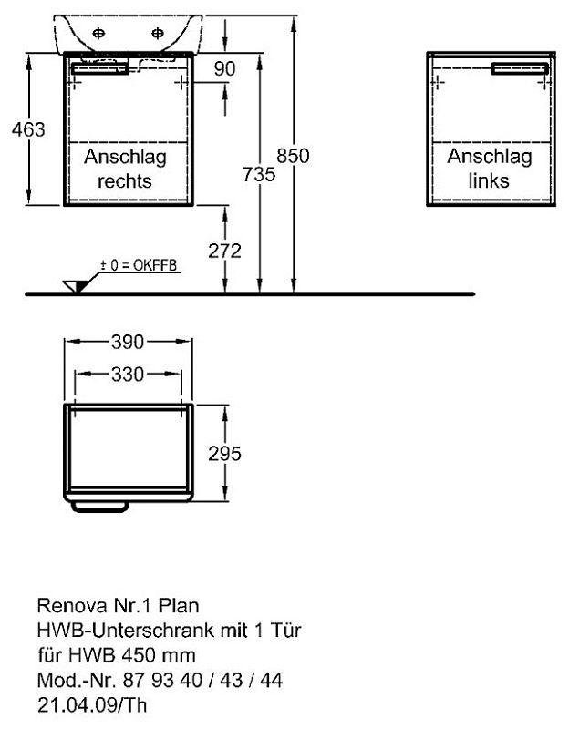 keramag renova nr 1 plan handwaschbecken unterschrank 39. Black Bedroom Furniture Sets. Home Design Ideas