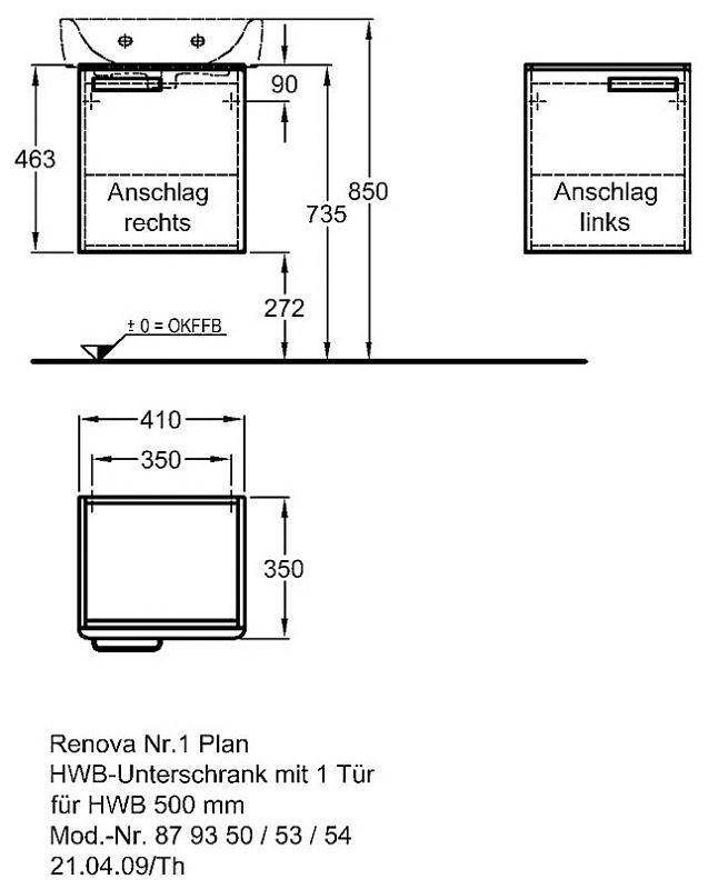 keramag renova nr 1 plan handwaschbecken unterschrank 41 x 46 3 x 34 cm megabad. Black Bedroom Furniture Sets. Home Design Ideas
