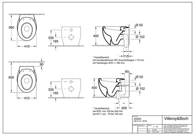 Innovativ Villeroy & Boch Aveo New Generation Stand-Tiefspülklosett - MEGABAD IW42