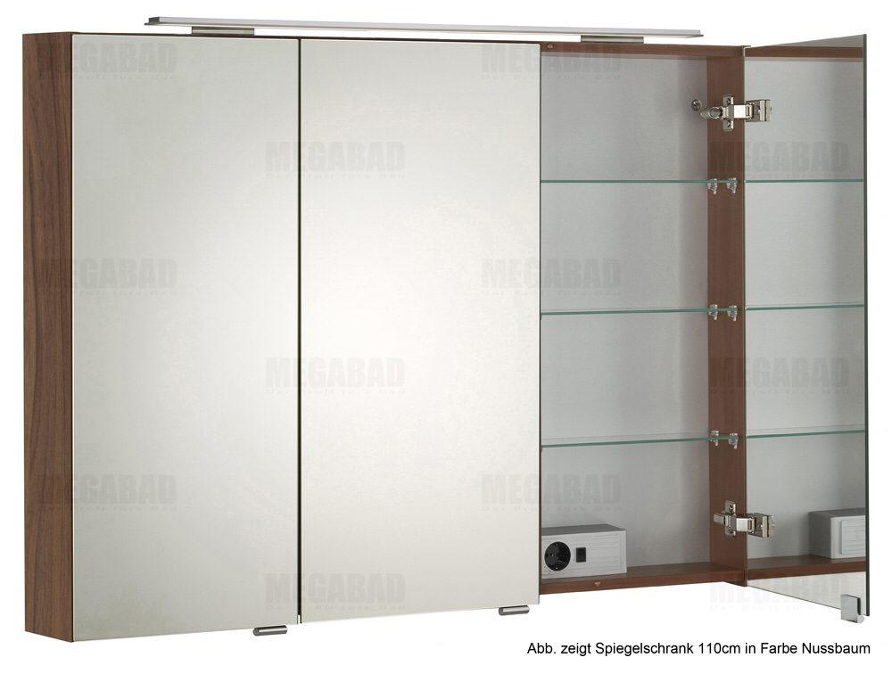 architekt 100 led spiegelschrank 110 cm megabad. Black Bedroom Furniture Sets. Home Design Ideas
