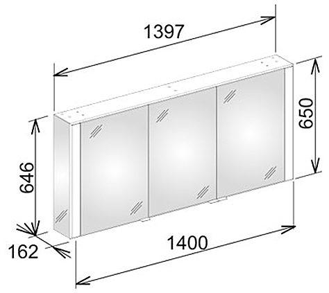 keuco royal 60 spiegelschrank 140 cm 22103171301 megabad. Black Bedroom Furniture Sets. Home Design Ideas