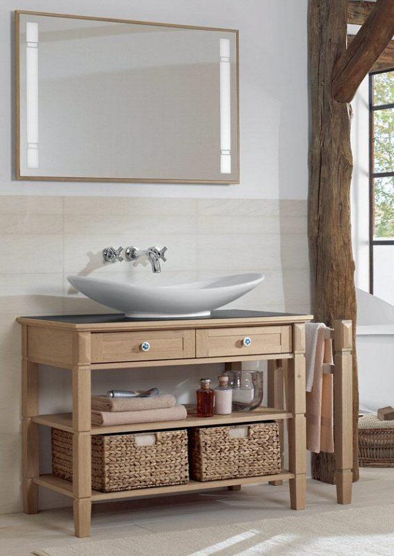 Villeroy & Boch True Oak Waschtischunterbau 100 cm, Griffe rund ...
