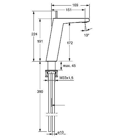 hansa hansaloft waschtisch einhand einlochbatterie. Black Bedroom Furniture Sets. Home Design Ideas