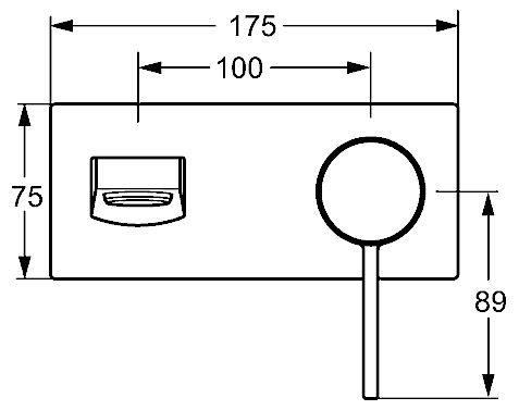 hansa hansaloft waschtisch einhand wandbatterie 57572103. Black Bedroom Furniture Sets. Home Design Ideas