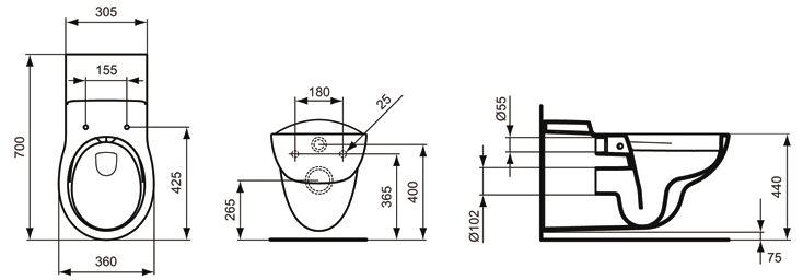 ideal standard contour 21 wandtiefsp l wc barrierefrei sp lrandlos s3069 megabad