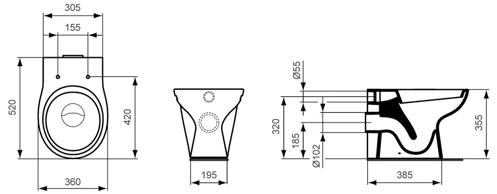 ideal standard contour 21 kinder standtiefsp lklosett ab 7 jahre megabad. Black Bedroom Furniture Sets. Home Design Ideas
