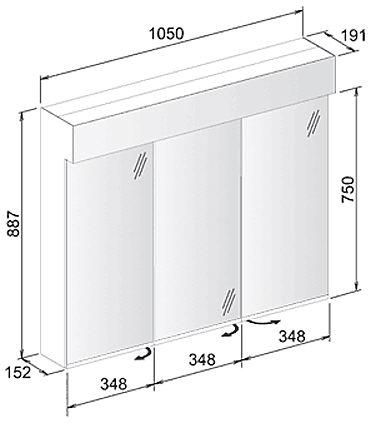 keuco edition 11 spiegelschrank 105 x 88 7 cm 21202171302 megabad. Black Bedroom Furniture Sets. Home Design Ideas