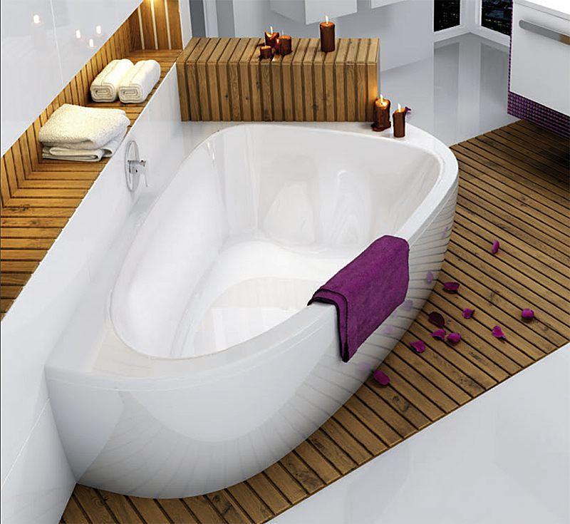 Ravak lovestory 2 eck badewanne rechts mit pu plus megabad for Badewannen fotos