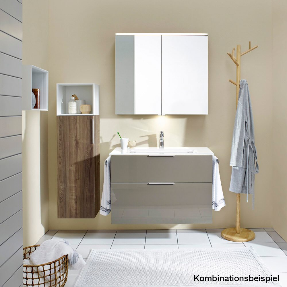 Burgbad Eqio Waschtischkombination mit Keramik-Doppelwaschtisch 123 ...