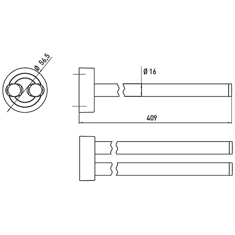emco polo handtuchhalter 41 cm schwenkbar 075000141 megabad. Black Bedroom Furniture Sets. Home Design Ideas
