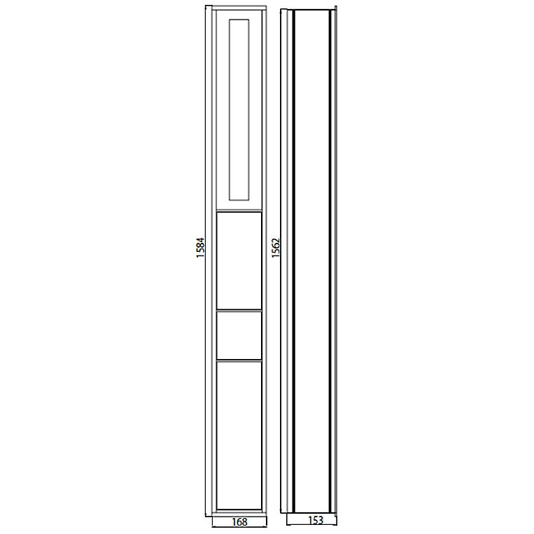 emco asis wc schrankmodul 150 up megabad. Black Bedroom Furniture Sets. Home Design Ideas