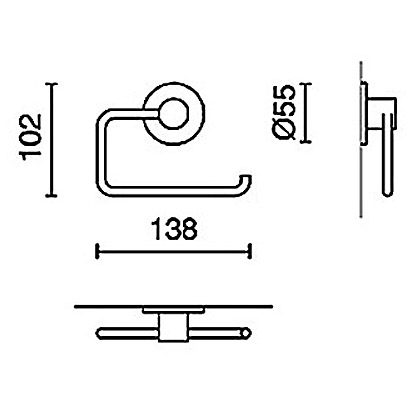 zack marino toilettenpapierhalter 40219 megabad. Black Bedroom Furniture Sets. Home Design Ideas