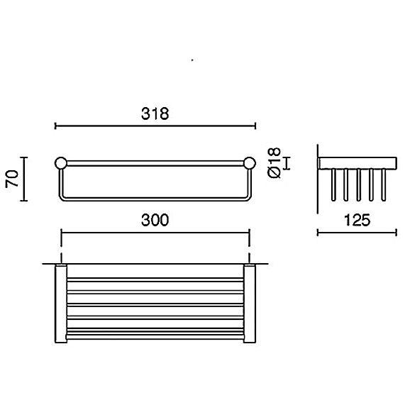 zack civio duschkorb gro 40238 megabad. Black Bedroom Furniture Sets. Home Design Ideas