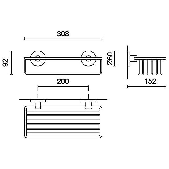 zack scala duschkorb gro 40085 megabad. Black Bedroom Furniture Sets. Home Design Ideas