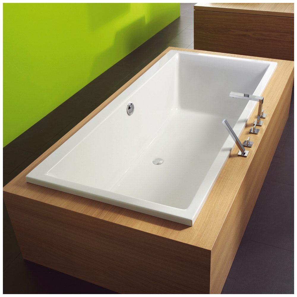 megabad architekt pure badewanne 180 x 80 cm mb18211 megabad. Black Bedroom Furniture Sets. Home Design Ideas