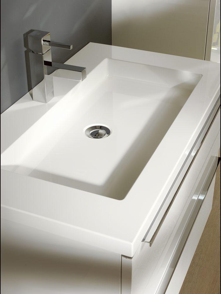 architekt 500 m belkombination 80 cm mit waschtisch und spiegelschrank megabad. Black Bedroom Furniture Sets. Home Design Ideas