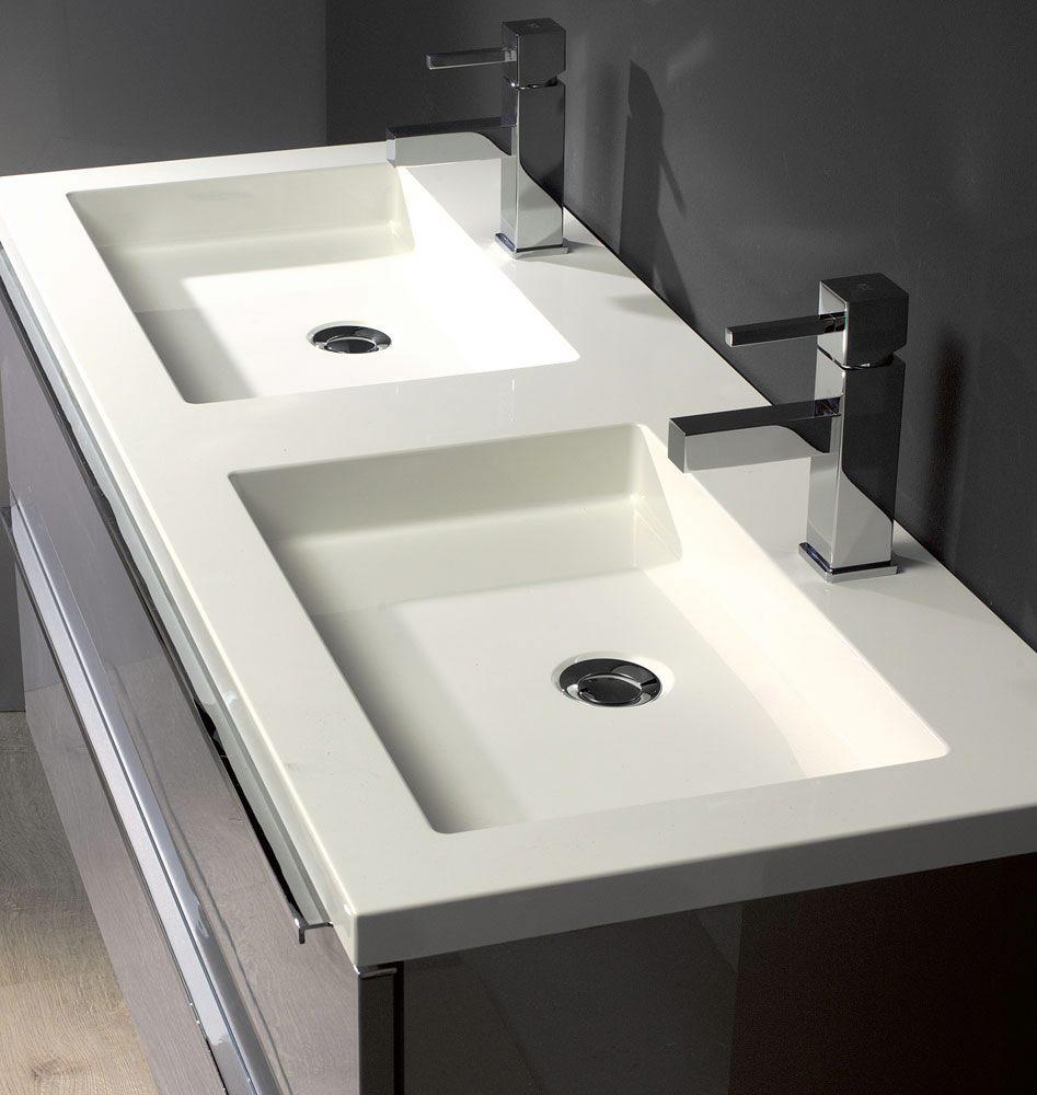 architekt 500 m belkombination 120 cm mit doppelwaschtisch und spiegel megabad. Black Bedroom Furniture Sets. Home Design Ideas