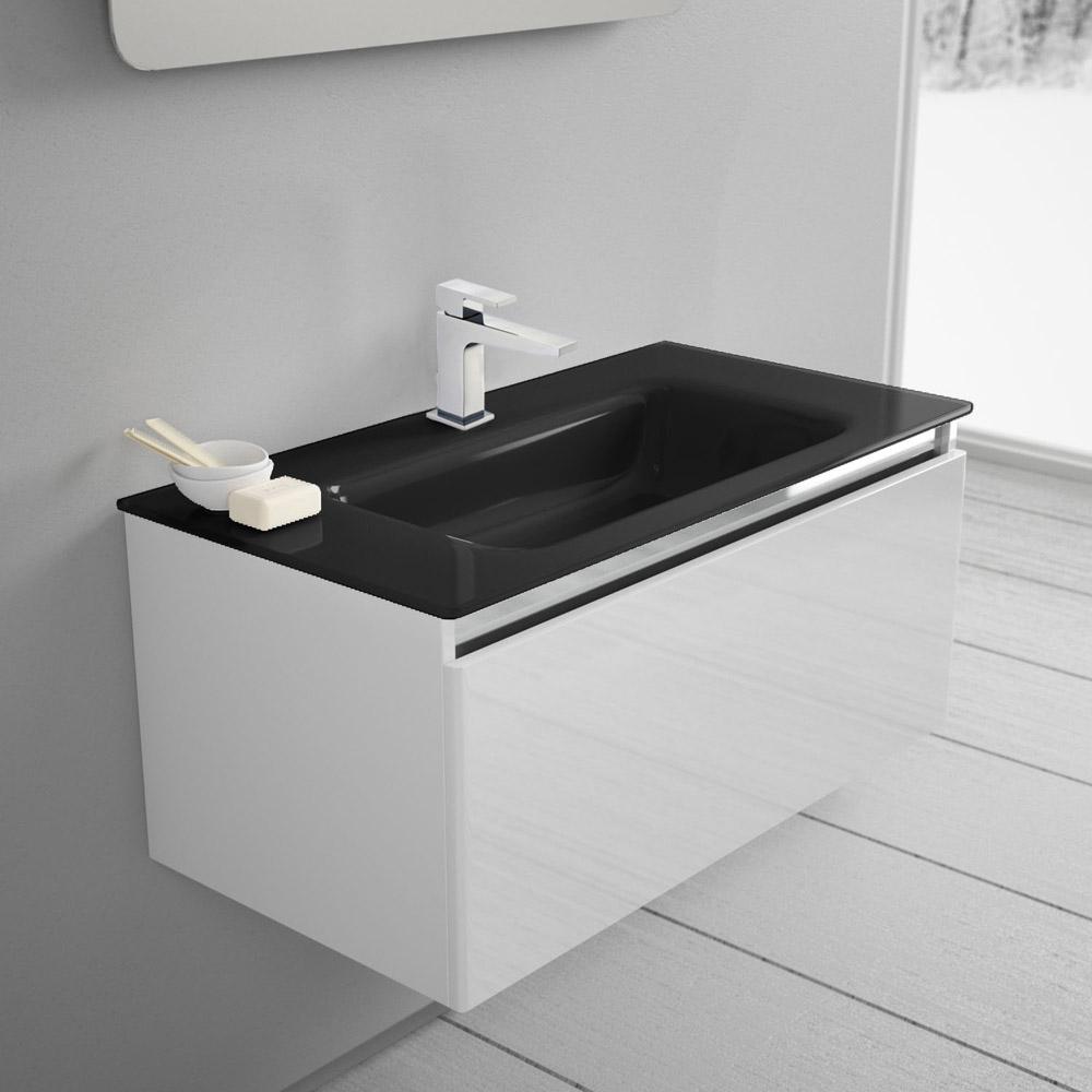 megabad architekt 100 glasline waschtischkombination mbhe90bcrnr megabad. Black Bedroom Furniture Sets. Home Design Ideas