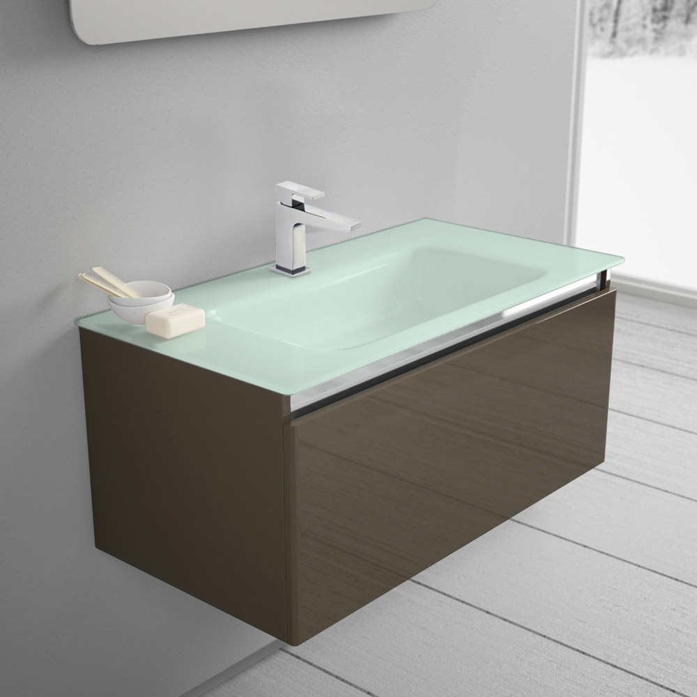megabad architekt 100 glasline waschtischkombination. Black Bedroom Furniture Sets. Home Design Ideas