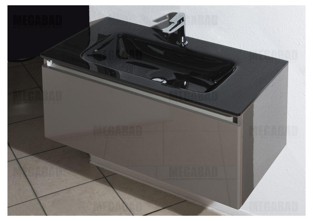 megabad architekt 100 glasline waschtischkombination mbhe90tcrnr megabad. Black Bedroom Furniture Sets. Home Design Ideas
