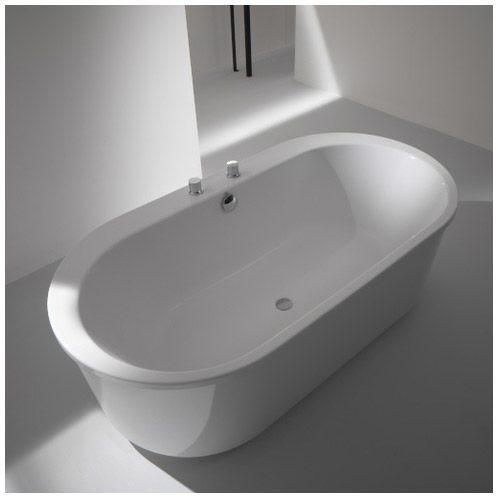 Hoesch badewannen  Hoesch Foster Oval 190 x 98 cm freistehend mit Außenverkleidung ...