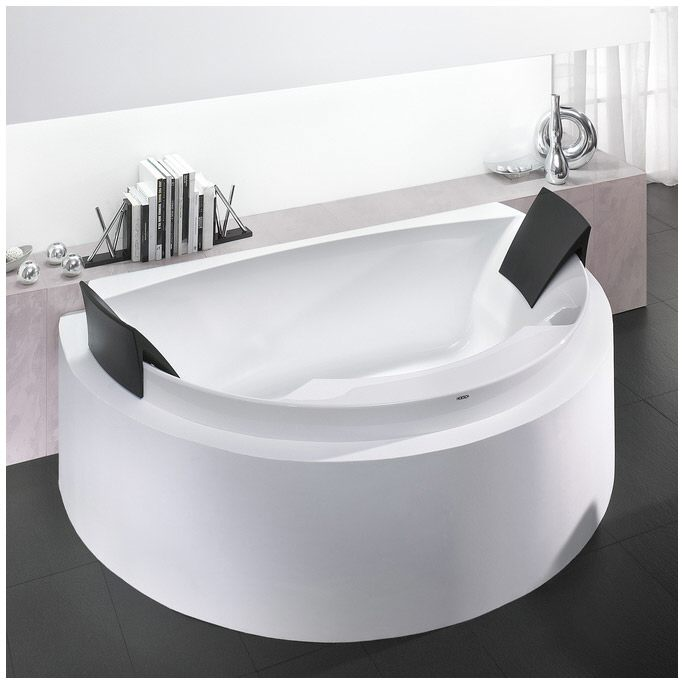 hoesch aviva halbrund badewanne mit 2 kopfst tzen. Black Bedroom Furniture Sets. Home Design Ideas