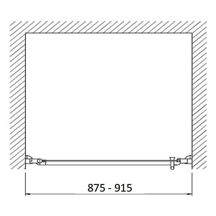 planplus home duscht r f r nische 90 x 195 cm t ranschlag links megabad. Black Bedroom Furniture Sets. Home Design Ideas