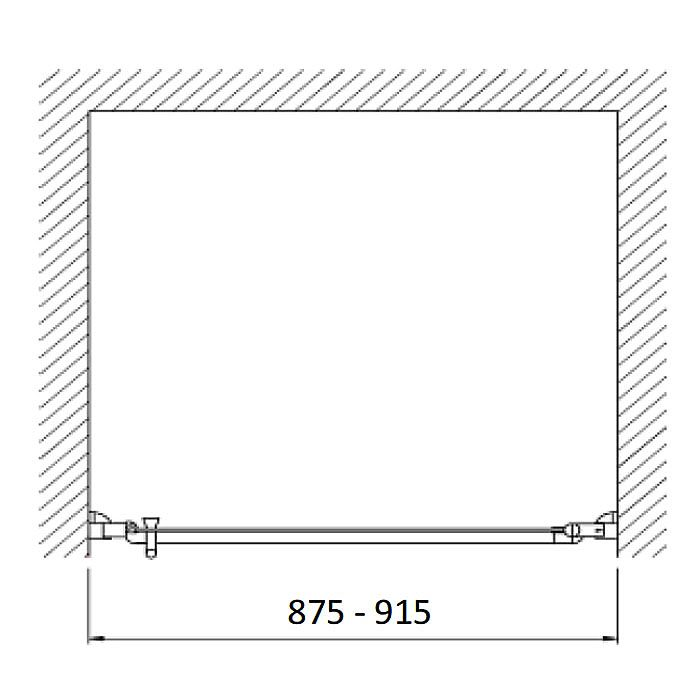 planplus home duscht r f r nische 90 x 195 cm t ranschlag rechts megabad. Black Bedroom Furniture Sets. Home Design Ideas