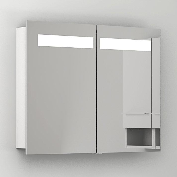 Megabad architekt 200 spiegelschrank 90 cm schwarz art 824094 megabad - Spiegelschrank 90 cm ...