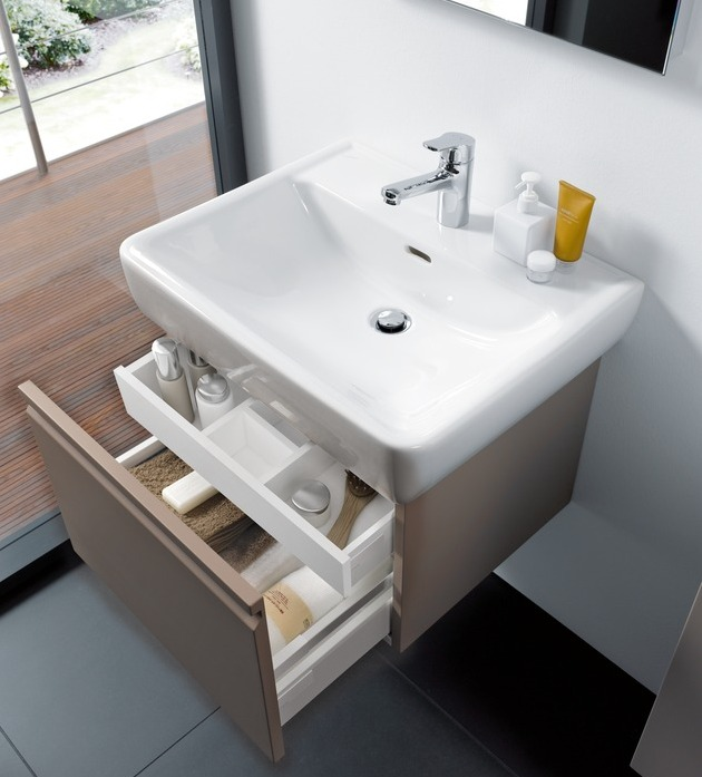 laufen pro waschtischunterbau pro a 57 cm mit 1 auszug und innenschublade h4830420954231 megabad. Black Bedroom Furniture Sets. Home Design Ideas