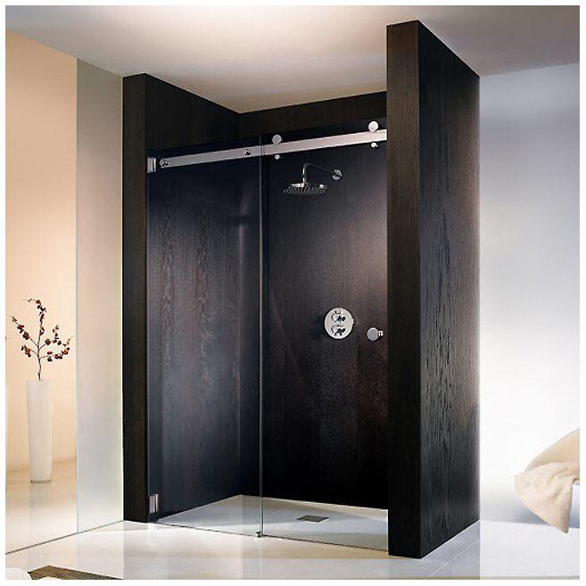 hsk atelier pur rahmenlose nischent r mit gleitt r. Black Bedroom Furniture Sets. Home Design Ideas