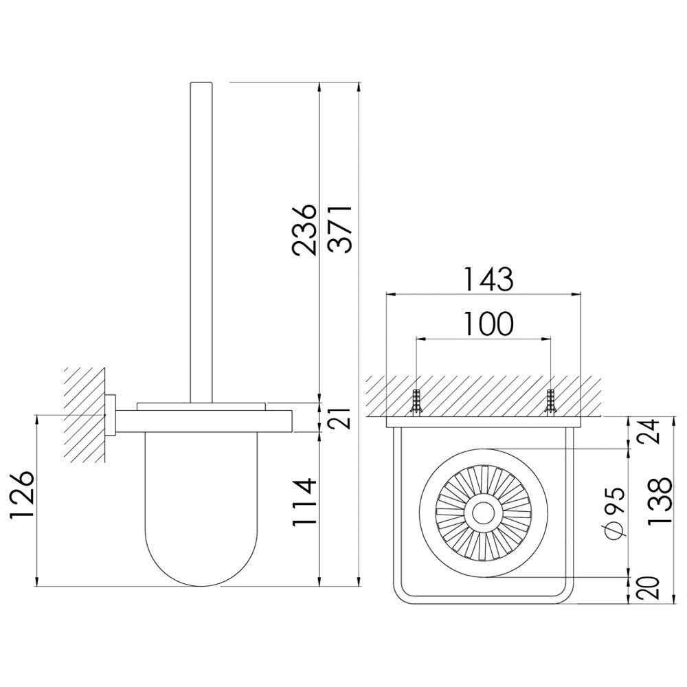 steinberg serie 450 b rstengarnitur megabad. Black Bedroom Furniture Sets. Home Design Ideas