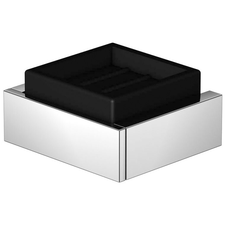 steinberg serie 460 seifenhalter mit glas schwarz. Black Bedroom Furniture Sets. Home Design Ideas