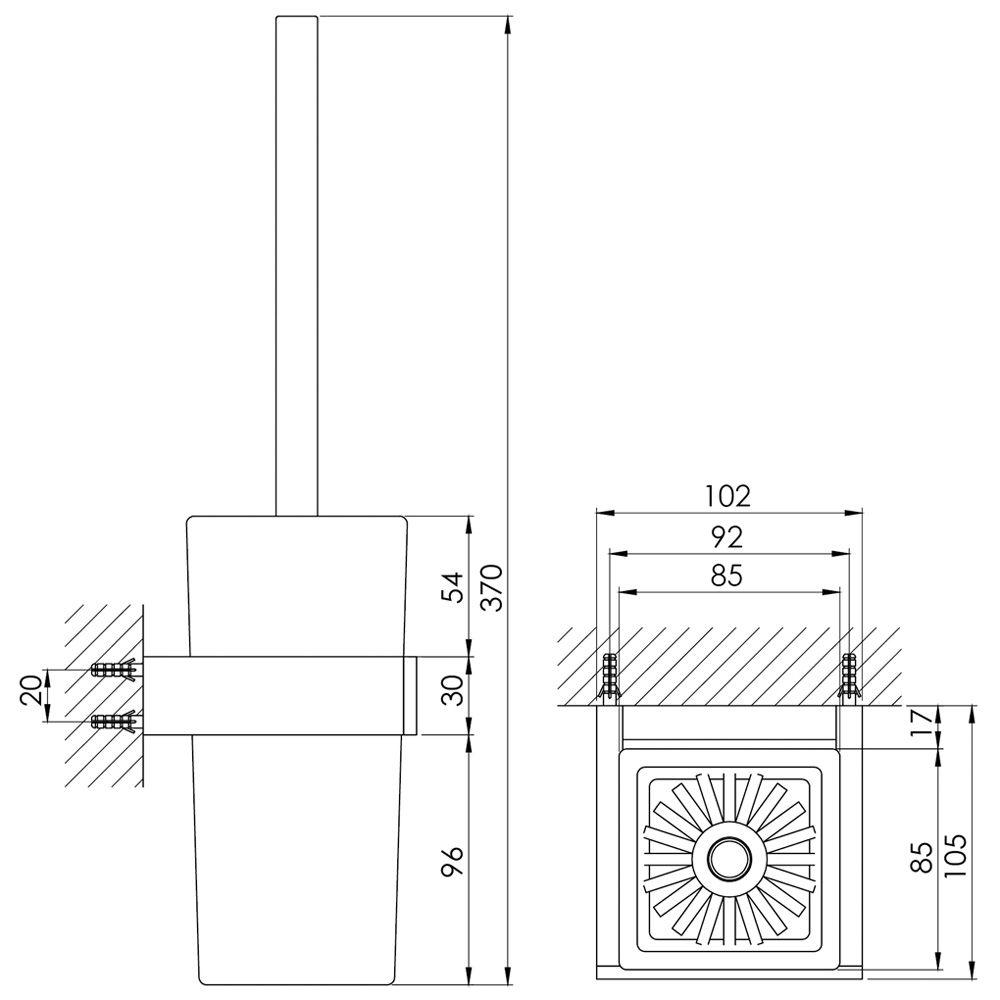 Steinberg serie 460 burstengarnitur mit glas schwarz 460 for Steinberg bad accessoires