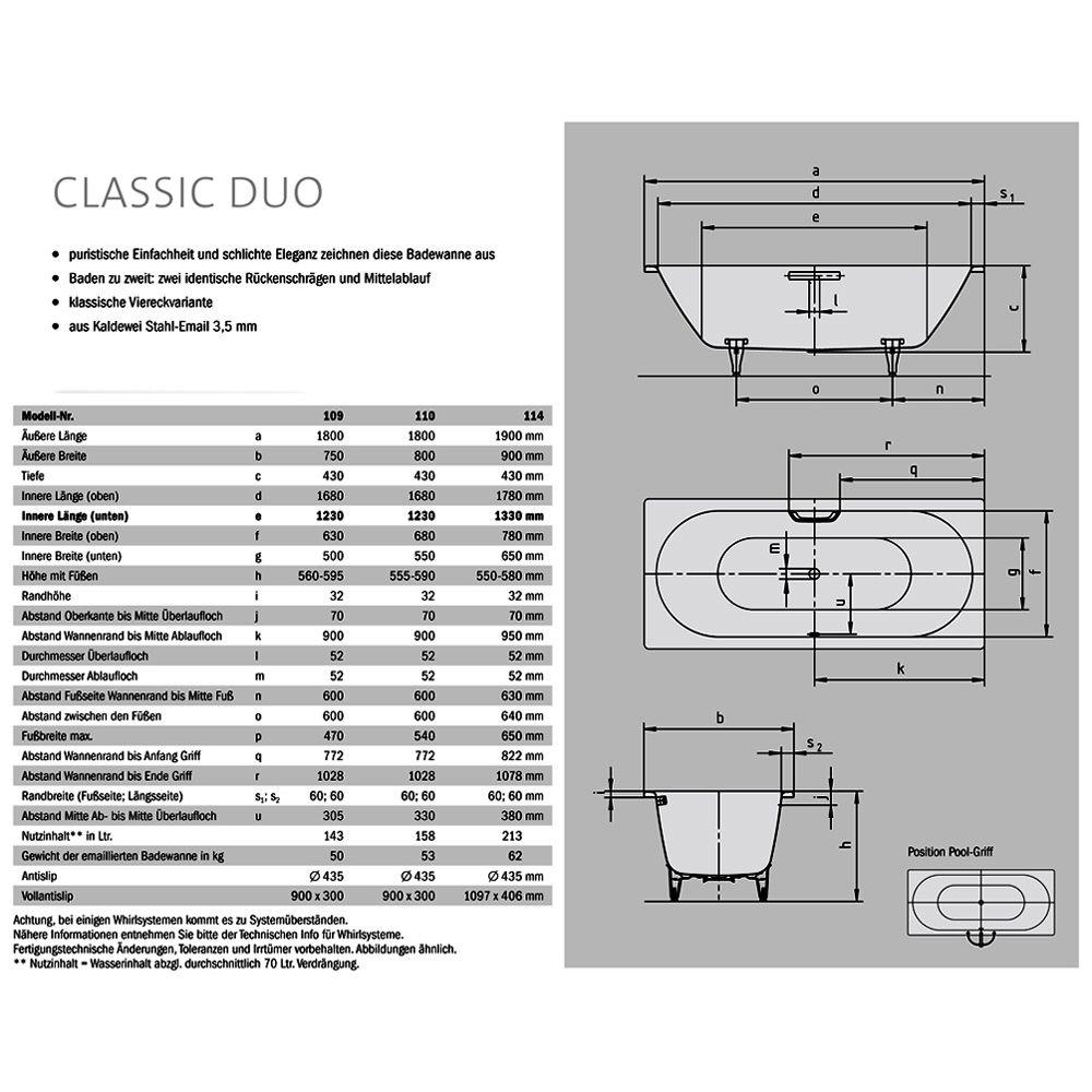 kaldewei classic duo whirlpool 291000013001vivovita megabad. Black Bedroom Furniture Sets. Home Design Ideas