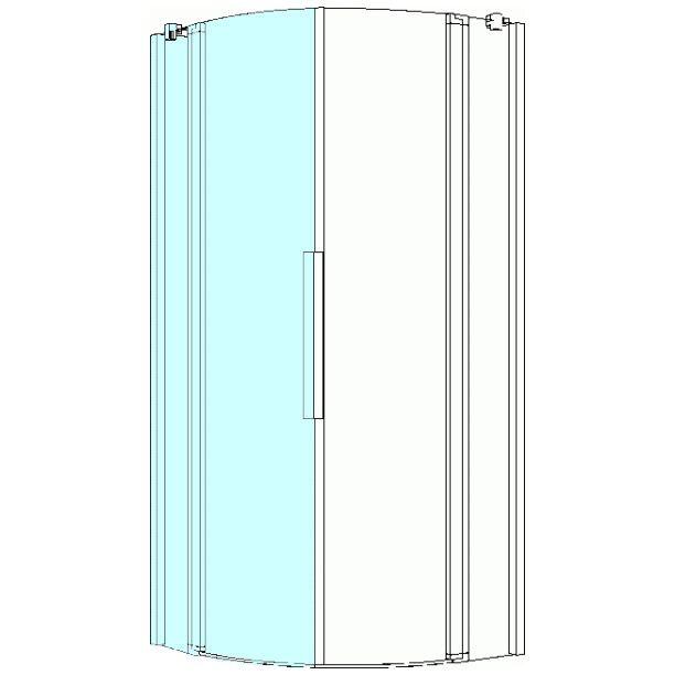 koralle myday viertelkreis duschabtrennung 80 cm links. Black Bedroom Furniture Sets. Home Design Ideas