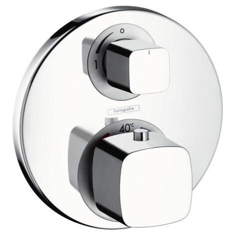 hansgrohe metris ecostat e up thermostat mit absperrventil. Black Bedroom Furniture Sets. Home Design Ideas