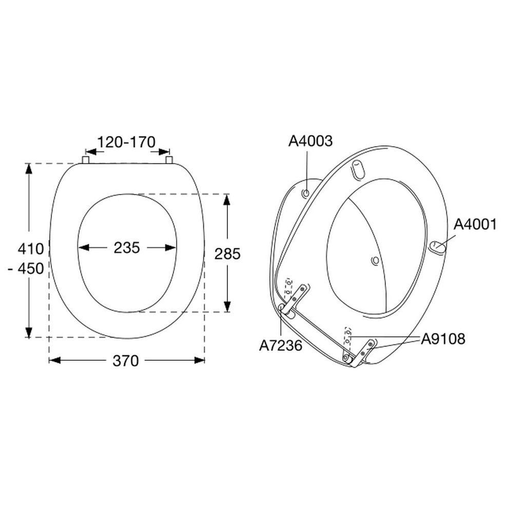 pressalit wc sitz 2000 inkl b13 universalscharnier 124000 b13999 megabad. Black Bedroom Furniture Sets. Home Design Ideas