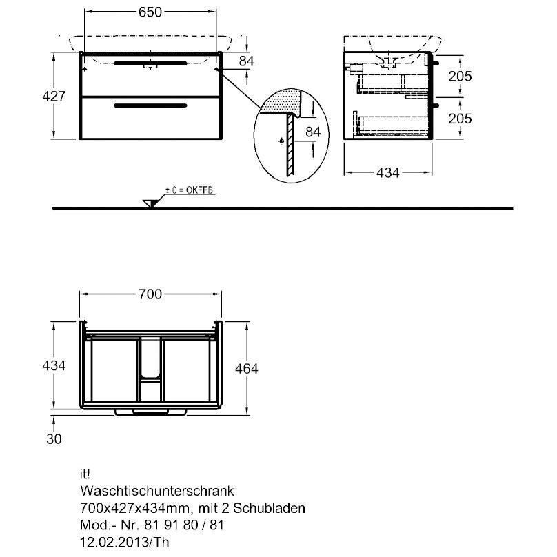 keramag it waschtischunterschrank 70 cm 819180 megabad. Black Bedroom Furniture Sets. Home Design Ideas