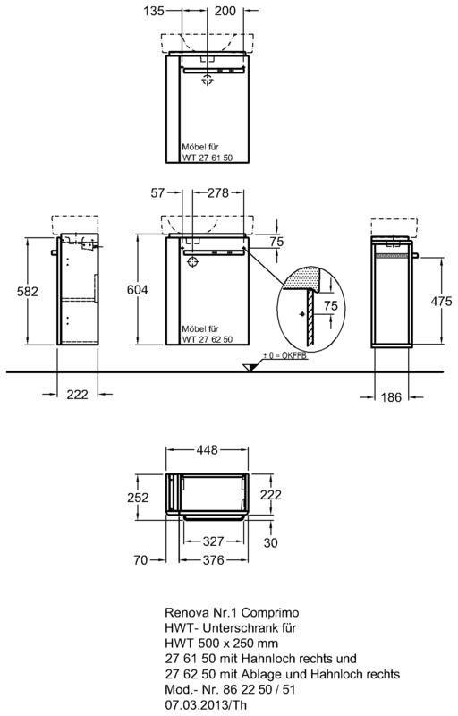 keramag renova nr 1 comprimo neu handwaschbecken unterschrank 862250000 megabad. Black Bedroom Furniture Sets. Home Design Ideas